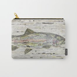 Rainbow Trout Collage (v2) by C.E. White Carry-All Pouch