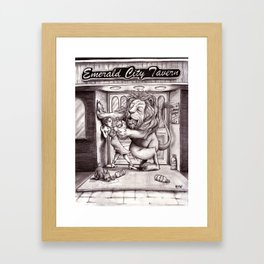 The Lion Gets His Courage Framed Art Print