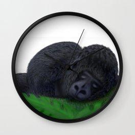 Sleeping Gorilla Wall Clock