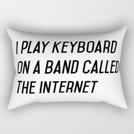 I play keyboard Rectangular Pillow