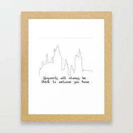 Hogwart will always be there to welcome you home! Framed Art Print