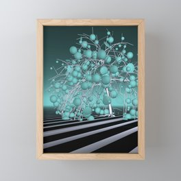 the lightblue tree Framed Mini Art Print