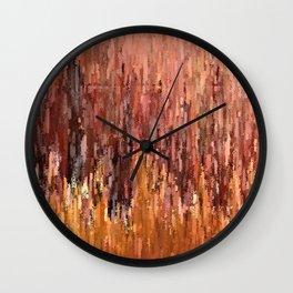 Red Brush Wall Clock