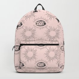 Sun and Eye of wisdom pattern - Pink & Black - Mix & Match with Simplicity of Life Backpack