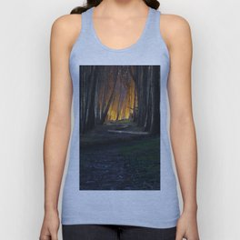 Haunted Forest and Andrew Goldsworthy Sculpture Unisex Tank Top