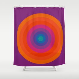 Retro Bullseye Pattern Shower Curtain