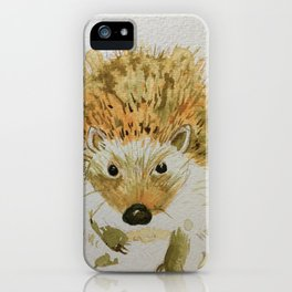 Hedgehog in a Hurry iPhone Case