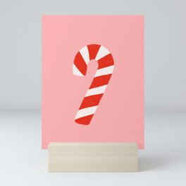 Candy Canes - Pink Mini Art Print