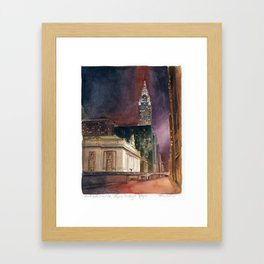 Grand Central Station and the Chrysler Building II Framed Art Print