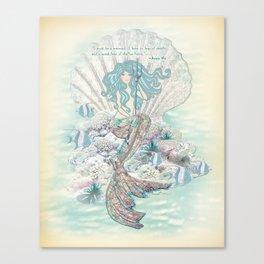 Anais Nin Mermaid [vintage inspired] Art Print Canvas Print