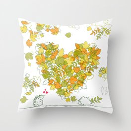 Heart of leaves 4U Throw Pillow