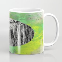Devoid of Colour - Abstract, geometric, black and white, colour art Coffee Mug