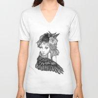 lavender V-neck T-shirts featuring Lavender by April Alayne