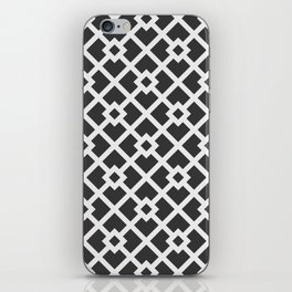 Black & White Abstract Square Pattern iPhone Skin