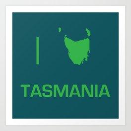 I heart Tasmania Art Print
