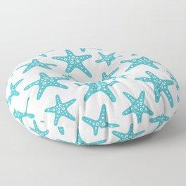Sweet Starfish Pattern 229 Turquoise Floor Pillow