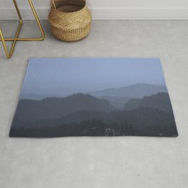 Mountains (Cyan Tone) Rug