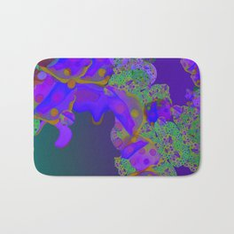 """""""Be yourself (Pop Fantasy Colorful Pattern 02)"""" Bath Mat"""