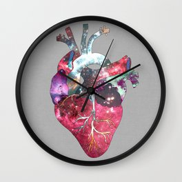 Superstar Heart (on grey) Wall Clock