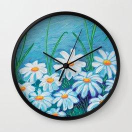 Daises Wall Clock
