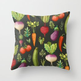 Garden Veggies Throw Pillow