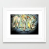 nyc Framed Art Prints featuring NYC  by Phil Provencio