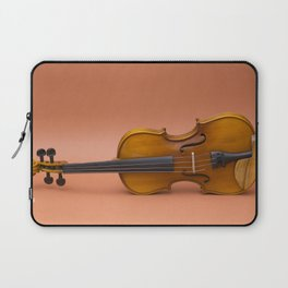 violin on a brown background Laptop Sleeve