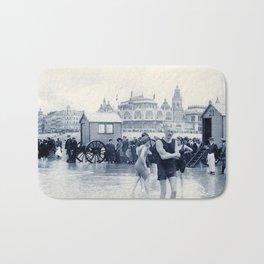 On the beach in 1900, history swimwear Bath Mat