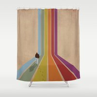 lonely Shower Curtains featuring Lonely by Whitney Retter