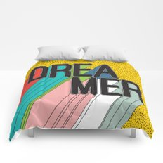 Dreamer Typography Color Poster Dream Imagine Comforters
