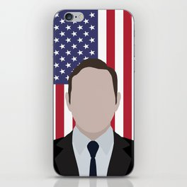 "House of cards Frank Underwood "" flag background "" iPhone Skin"