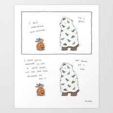 Costume Fail  Art Print