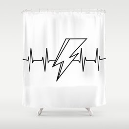 Bowie Heartbeat Shower Curtain