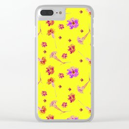 Carnations | Yellow Clear iPhone Case