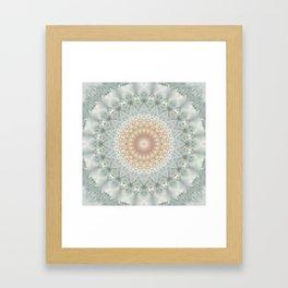 Mandala Snow Queen Framed Art Print