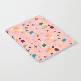 Atomic Pattern Pink Green  #midcenturymodern Notebook