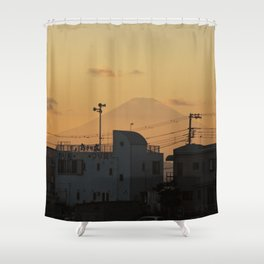 Mt. Fuji Sunset Shower Curtain