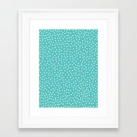dots Framed Art Prints featuring Dots. by Priscila Peress
