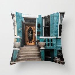 At Your Doorstep Throw Pillow