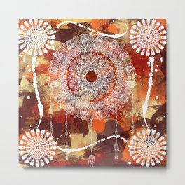 Bright MANDALA Metal Print