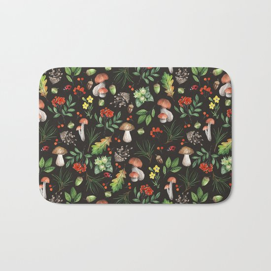 Forest. Brown pattern Bath Mat