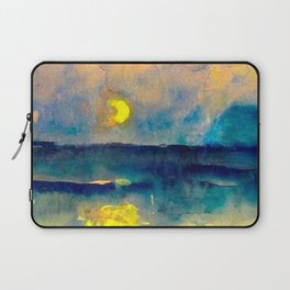 Yellow Moon (Over the Sea) landscape painting by Emil Nolde Laptop Sleeve
