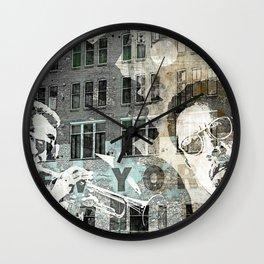 MONK, MILES, & MINGUS II Wall Clock