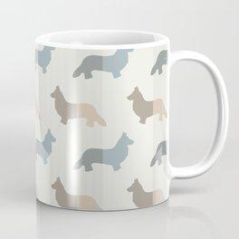 Welsh Corgi Pattern - Natural Colors Coffee Mug