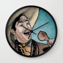 Jorge Negrete Really Loves Smoked Chicken Wall Clock