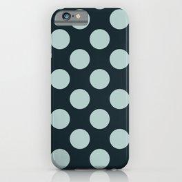 Polka dots indigo and blue iPhone Case