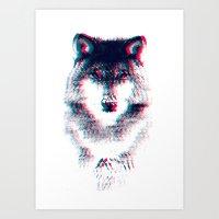 wolf Art Prints featuring Act like a wolf.  by Mason Denaro