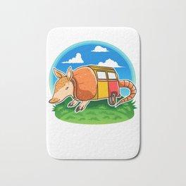 Funny Armadillo Holiday Camper Trailer Camping product Bath Mat