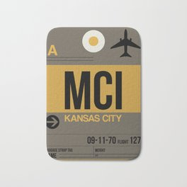 MCI Kansas City Luggage Tag 1 Bath Mat