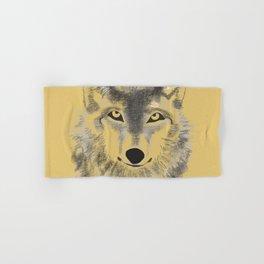 Wolf Face - Gold Hand & Bath Towel